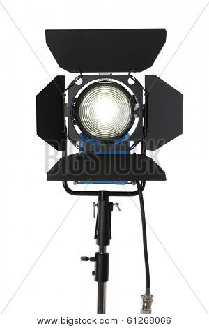 HMI studio light cutout on white background