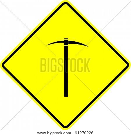 pick mattock sign