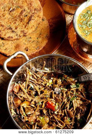 Kair and sangri is a vegetarian dish from India