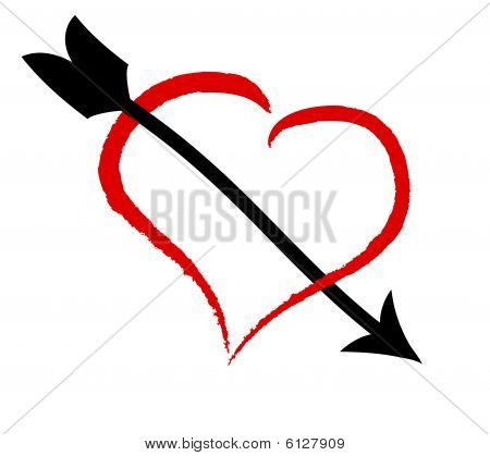Heart and arrow