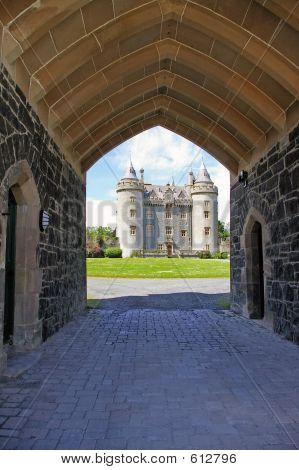 View Of Castle Through Gateway