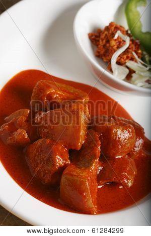 Pork Vindaloo - Hot and Sour Pork from Goa