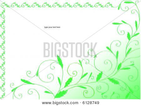 Green curly frame