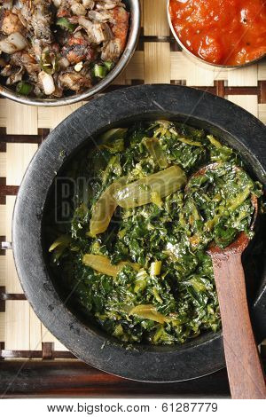 Saag Bhaji - A vegetarian dish from India