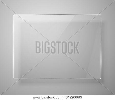Glass framework. Vector illustration. Eps 10
