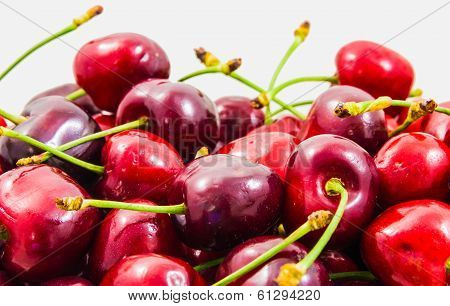Red And Juicy Cherries Background