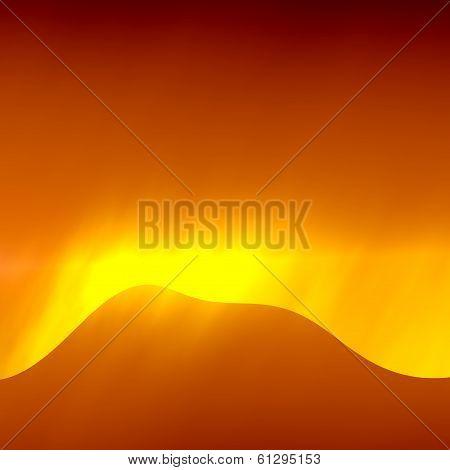 Sun after Sandstorm Abstract Illustration