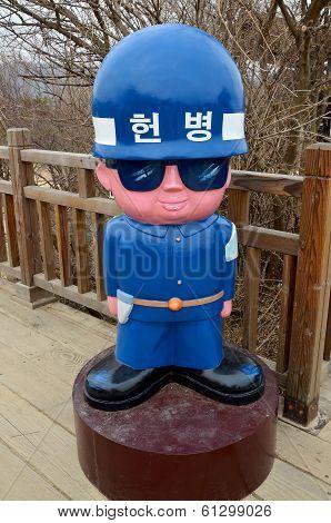Mascot soldiers  Korean Demilitarized Zone