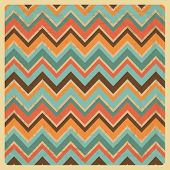 Vintage Geometric Zigzag Background with Grunge Texture, Hipster Style,Pattern, Vector Illustratuon poster