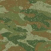 Green and brown mud camouflage seamless pattern poster