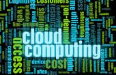 Cloud Computing Technology Concept as a Abstract poster