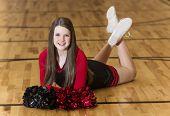 Young Teen Cheerleader Portrait poster