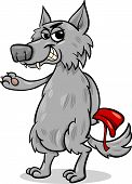 Cartoon Illustration of Bad Wolf Character from Little Red Riding Hood Fairy Tale poster
