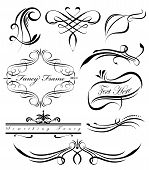 A group of fancy swirls page spacers dividers poster