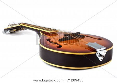 Country Mandoline On White Background