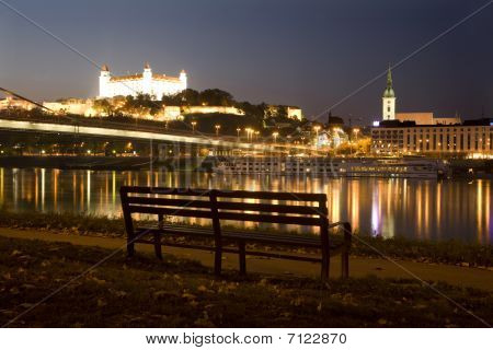 bratislava - castle and cathedral and Danube