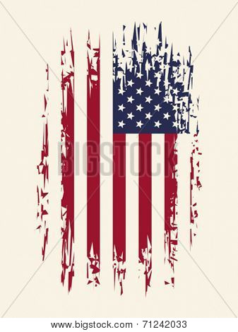 Background with aged USA Flag, Vector format EPS 8, CMYK.