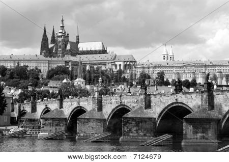 charles bridge and cathedral - prague