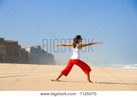 Young Woman Making Yoga