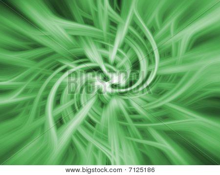 Green Twirl Background