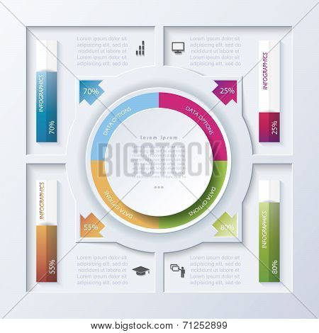 Abstract Vector Design Infographic (can Be Used For Your Web Design,  Workflow Or Graphic Layout