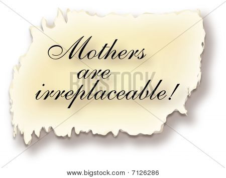 Mothers Are Irreplaceable Illustration