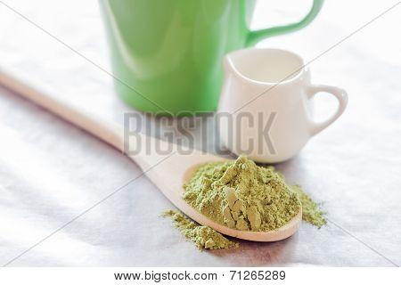 Hot Green Tea Latte Ingredient