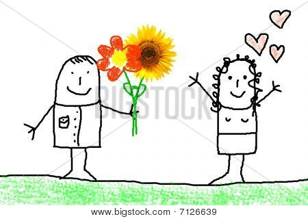 Love Concept With Flower