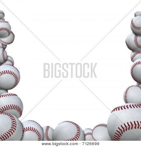 Many Baseballs Form Baseball Season Sports Border