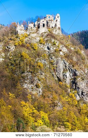 ruins of castle called Stary hrad near Strecno, Slovakia