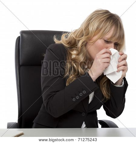 Young Businesswoman With Hayfever
