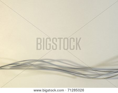 Flowing Strings Or Ribbons On A Warm Textured Background