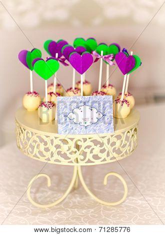 Cake-pops On Carved Roundel