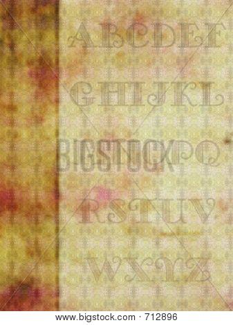 Alphabet Background, Retro Style