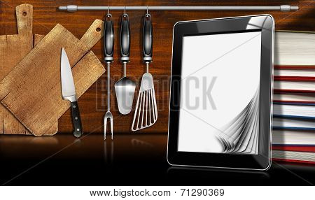 Tablet Computer In The Kitchen