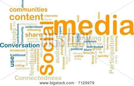 Social-Media wordcloud