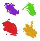 An illustration of 4 nice abstract color splashes poster