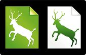 Green Deer Pages Collection Original Vector Illustration poster
