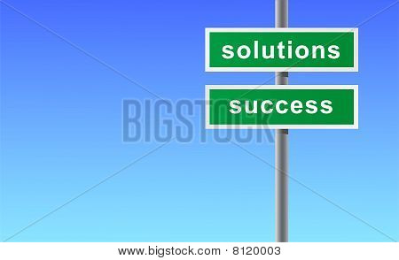 Sign of solutions success.