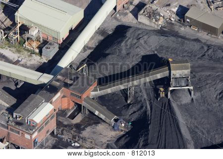 Aerial of a Nottinghamshire coal mine poster