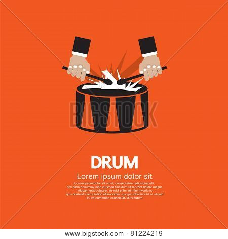 Drum And Drummer's Hand.