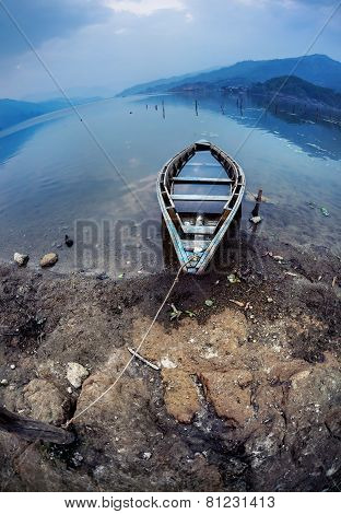 Boat At Pokhara Lake