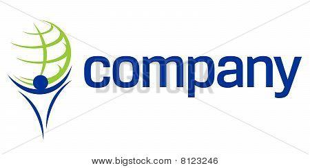 Finance World titan company creative design