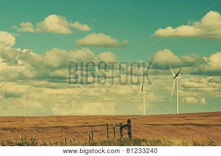 Giant Wind Turbines On The Horizon