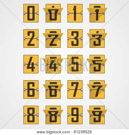 Numbers from Mechanical Scoreboard Alphabet