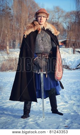 Old Russian Warrior Historical Reconstructor