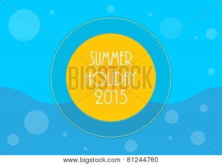 Summer Holiday Background, Vector Illustration, Eps10