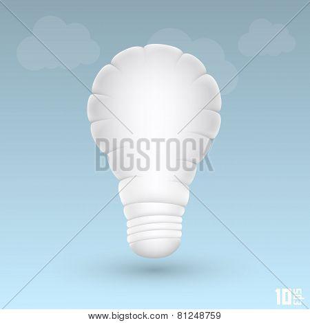 light cloud. Vector