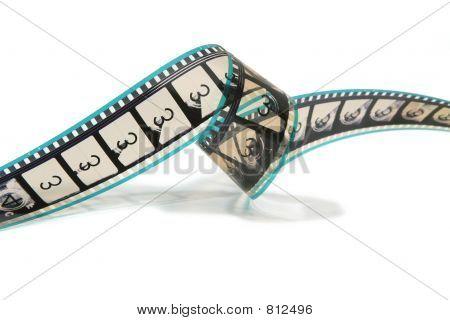 Curled Movie Film Strip