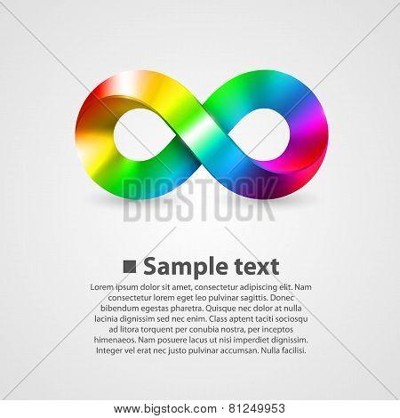 Vector symbol of infinity rainbow